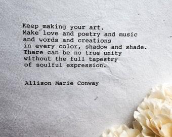 Artist, We Need You - poem