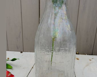 Bordens Milk Bottle,Dairy Bottle, Vintage Milk Bottle, Antique Milk Bottle, Rustic Centerpiece