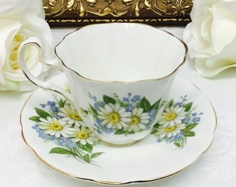 1950's Adderley teacup and saucer