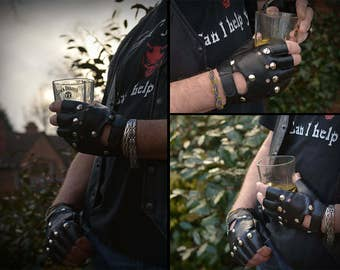 Faux Leather Riding Gloves