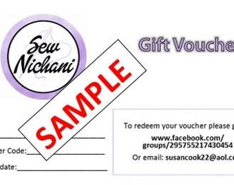 Gift Voucher for Sew Nichani Shop Items