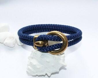 Bracelet, bracelets, sailing rope, hand made, Navy Blue