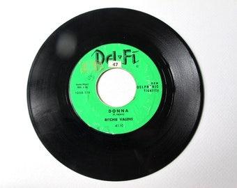 Donna, La Bamba,  Ritchie Valens, 45 RPM, 1958, Vinyl Record , Vintage Records