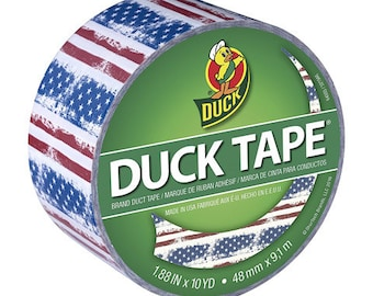 Duck® Tape,  Printed Crafting Tape, Adhesive  Tape - Americana - 1.88 in x 10 yds