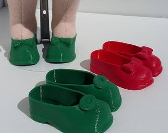 3D printed PLA shoes, for 18 inch dolls