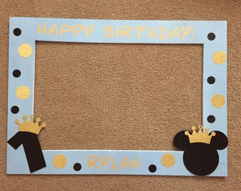 Prince Mickey Photo Booth Frame.
