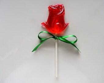12 Roses Lollipops Dozen Roses Sweetheart Red Roses Valentine Flower Garden Bridal Wedding Shower Party Favors Candy