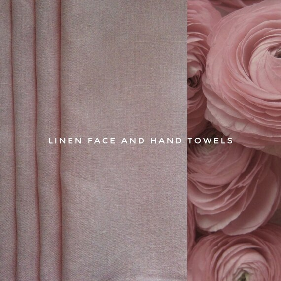 100% Linen Face and Hand Towel,Towel Set in 3pcs