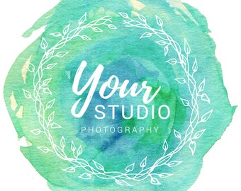 Premade Watercolor Photography Logo