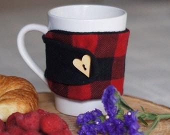 Mug Cozy, Yeti Cozy, Mug Sweater, Coffee Mug Cozy, Coffee Mug Sleeve, Yeti Sleeve, Coffee Mug Sweater, Buffalo Plaid Cozy