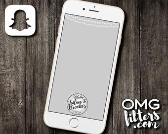 Wedding Filter 1 - Custom Snapchat Geofilter - Any Wording!