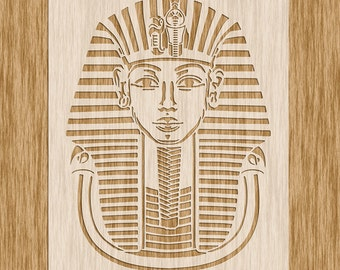 "Egyptian Pharaoh King TUT Stencil - Sku SE0103 (8.5"" x 11"")"