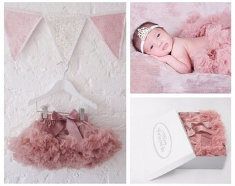 Vintage Pink Baby Tutu Pettiskirt 0-1 years