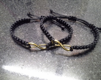 His and Her infinity bracelet set