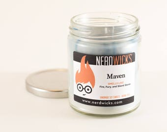 Maven - Red Queen Inspired Candle - Redwood Trees and Smoke Scent