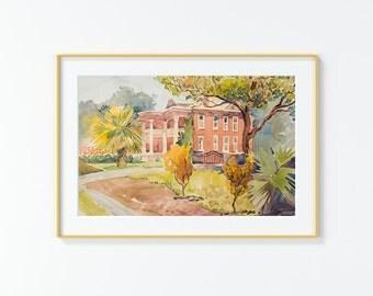 Original Watercolor Painting,Watercolor Painting,landscape,San Antonio
