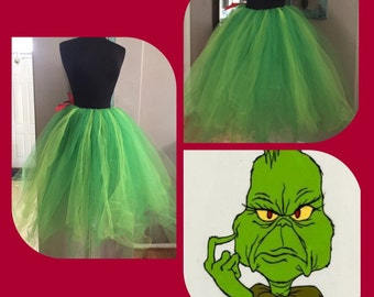 Adult The Grinch inspired tutu
