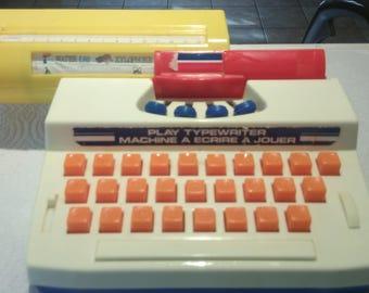 Vintage Blue Box Play Typewriter 70's
