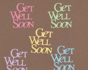 10 Get Well Soon Die Cuts for Paper Crafts  Set #5950
