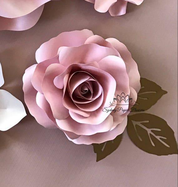 Rose Bud Paper Flower Video Tutorial Amp Template Paper