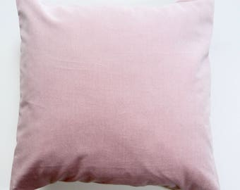 Pink velvet cushion | feather | by Olive Jennings Furniture