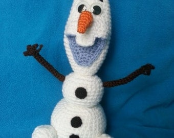 olaf, crocheted toy, snowman, Frozen