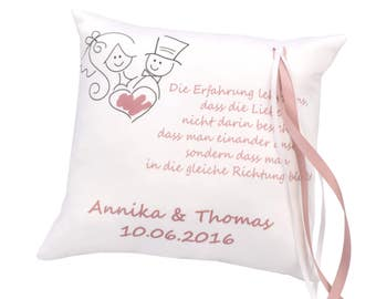 Ring pillow - personalised