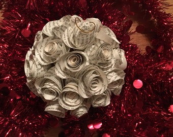 Jane Eyre Charlotte Brontë Paper Flower Christmas Ornament
