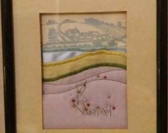 Vintage embroidered picture by Dove Valley