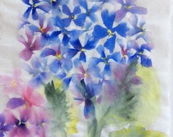 Blue Hydrangeas (Original Watercolor)