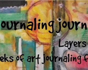 Art Journaling Journey e-course, mixed media, art journal class, tutorials