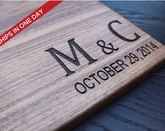 Personalized Cutting Board, Custom Engrave Cutting Board, Wedding Gift, Wooden Cutting Board, Anniversary Gift, Gift & Mementos, Gift Couple