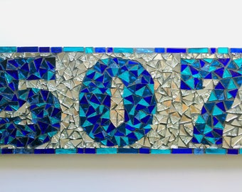 House Address Number Sign Name Sign Mosaic Plaques