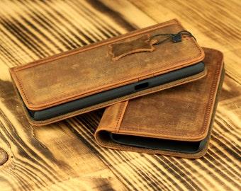 Samsung Galaxy S6 Wallet Case - Handmade Genuine Leather Active