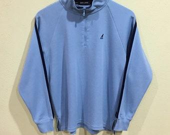 Sale!!! Rare!!! Kangol Sweatshirt Kangol Sport Half Zipper Pullover Jumper Sweater Hip Hop Swag