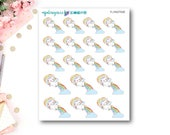 Flying Trixie - Sassy Unicorns | Unicorn Stickers | ECLP | Happy Planner | Recollections