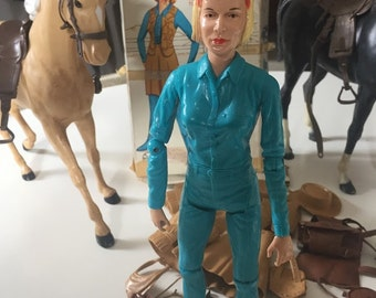 Vintage Jane West the Movable Cowgirl, Her Wardrobe,  and 2 Horses with Misc. Accessories  MAKE AND OFFER