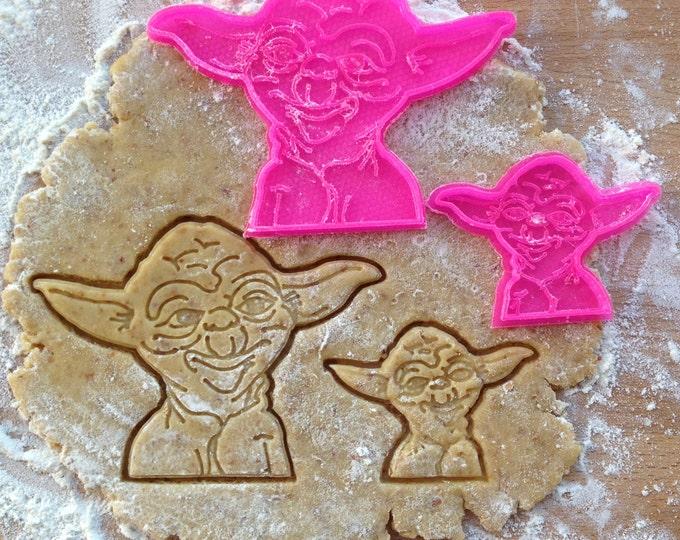 Yoda cookie stamp. Star Wars cookie cutter. Yoda cookies