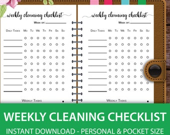 Cleaning Schedule, Cleaning List, Weekly Cleaning, Spring Cleaning, Daily Cleaning, Chore Chart Printable, Filofax Pocket, Filofax Personal