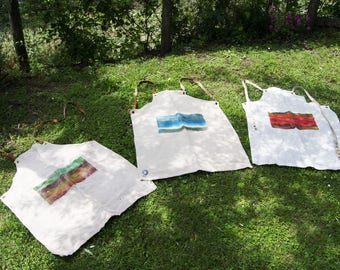 Aprons _ Raw Fabric, handmade aprons with organic materials and recycled