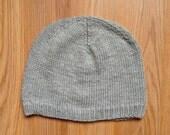 Custom for Cody - Washable Wool Grey Hat