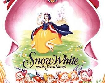 Vintage Snow White Movie Poster A3/A2/A1 Print