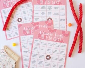10 Gilmore Girls Bingo Cards, Gilmore Girls Game INSTAND DOWNLOAD + Printable