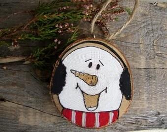 Snowman Ornament, Christmas Ornaments, Holiday Home Decor, Wood Snowman, ChristmasTree Decor, Christmas Tree Ornaments, Winter Home Decor