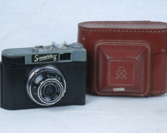 SMENA 8, 35mm viewfinder soviet camera,Exc +, ca. 1965