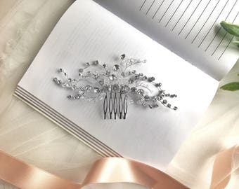 Crystal Hair Comb, Wedding Hairpiece, Bridal Crystal Comb, Rhinestone Hair Comb, Bridal Hair Piece, Wedding Bridal Comb