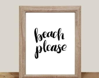 DIGITAL PRINT, Beach Please