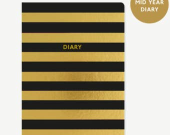 A5 day per page 2017-18 mid year diary - Stripe