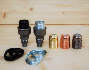 "Kit socket E27 fittings 15 / 21mm (1/2 "") for DIY plumbing fixture"