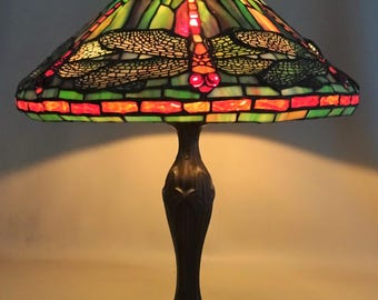Tiffany style table lamp - Dragonfly - gift for woman - mothersday gift - house decoration -